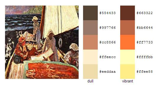 Палитра цветов с картин Пьера Боннара 13
