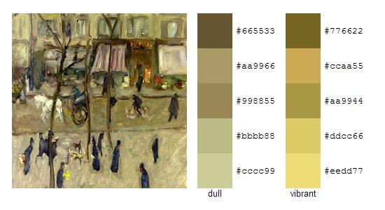 Палитра цветов с картин Пьера Боннара 16