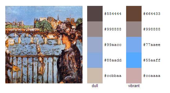 Палитра цветов с картин Пьера Боннара 17