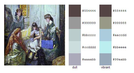 Палитра цветов с картин Пьера Боннара 18