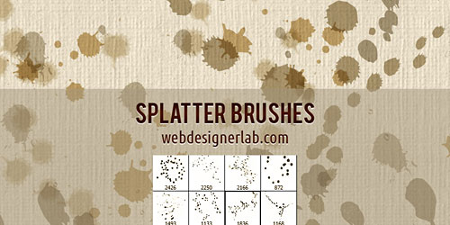 Перейти на Splatter Brushes