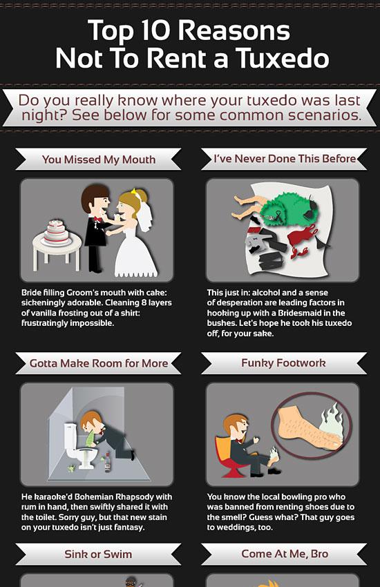 Перейти на Top Ten Reasons Not To Rent A Tuxedo