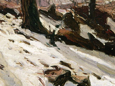 Перейти на Snow Near The Cave Central Park New York, 1902