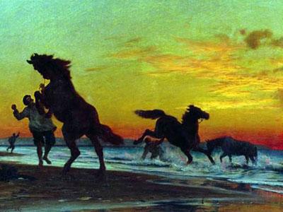 Перейти на Bathing Horses