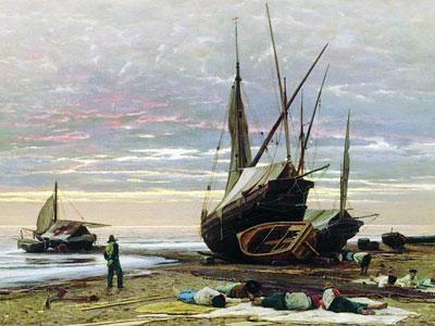 Перейти на Evening Seashore, 1874