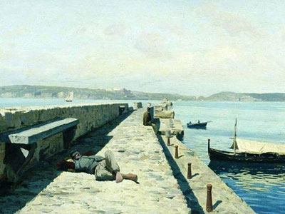 Перейти на The City Pozzuoli Near Naples, 1876