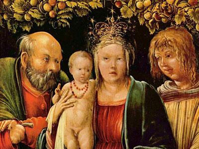Перейти на Святое семейство с ангелом