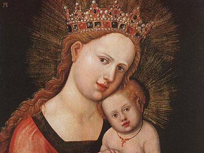 Перейти на Мария с младенцем
