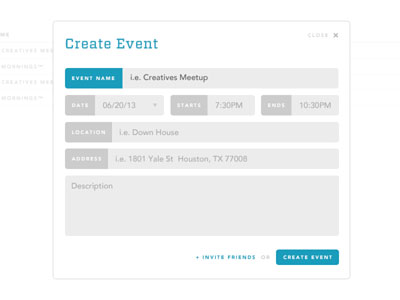 Event Modal