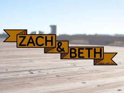 Zach & Beth logo