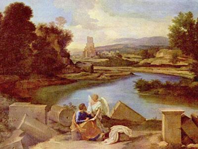 Перейти на Пейзаж со святым Матфеем и Ангелом