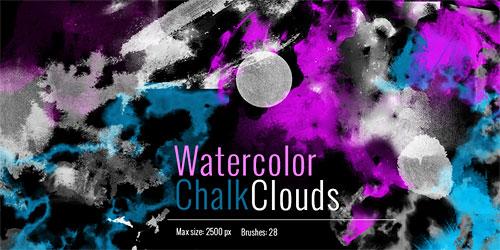 Перейти на Clouds Chalk Watercolor Brushes