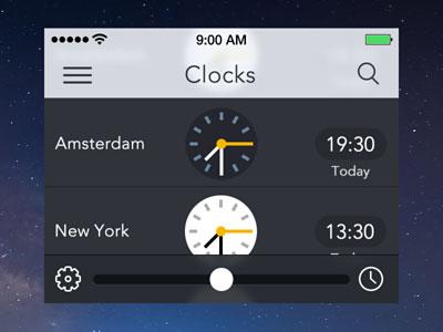 Clocks for iOS 7