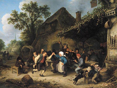 Перейти на Peasants Carousing And Dancing Outside An Inn