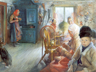 Перейти на Peasant Interior In Winter