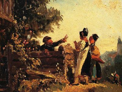 Перейти на Swabian Girls At A Garden Fence