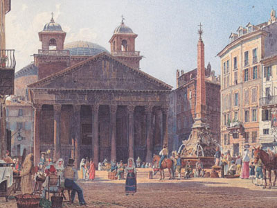 Перейти на The Pantheon And The Piazza Della Rotonda In Rome