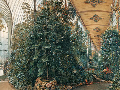 Перейти на Interior View Of The Palm House Of Lednice Castle