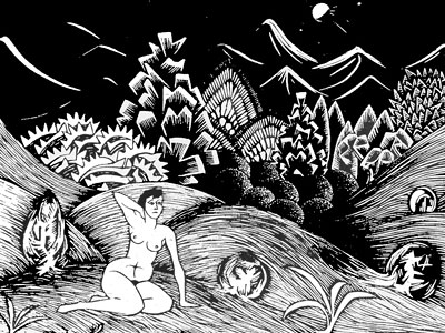 Перейти на Female Nude In A Landscape