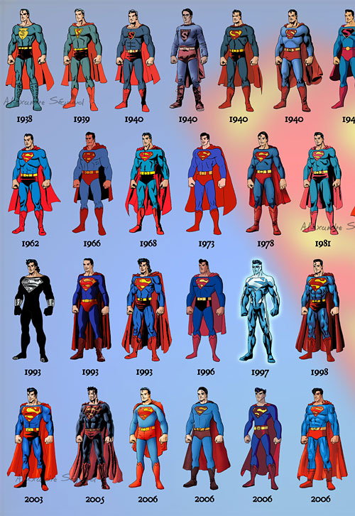 Перейти на Evolution Superman 1938-2011