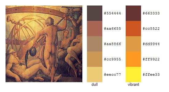 Палитра цветов с картин художника Джорджо Вазари 8