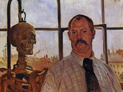 Перейти на Self Portrait With Skeleton