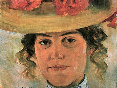 Перейти на Woman S Half Portrait With Straw Hat