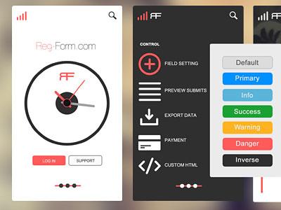 Перейти на Mobile App UI Concept