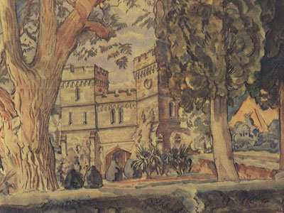 Перейти на Часовые башни Алупкинского дворца