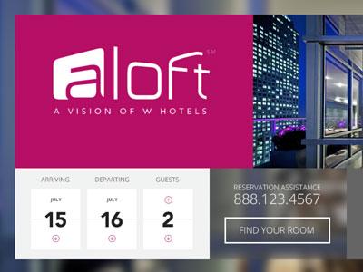 Hotel website hero area