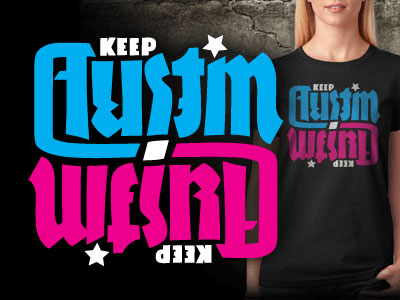 Keep Austin Weird Ambigram