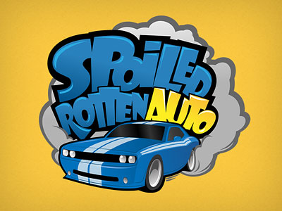 Spoiled Rotten Auto Illustrative Logo